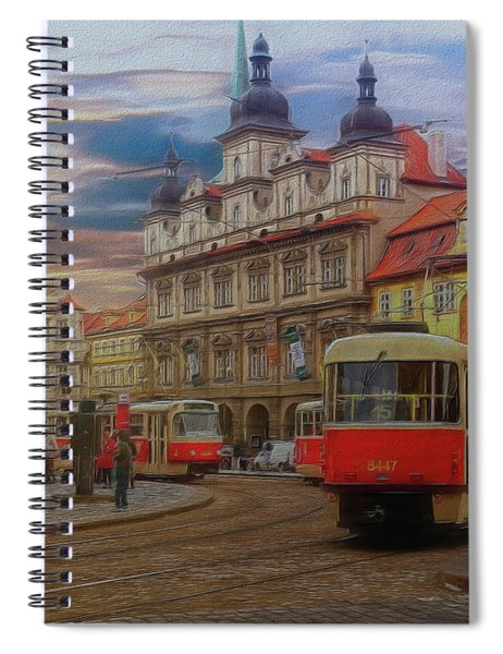 Prague, Old Town, Street Scene Spiral Notebook