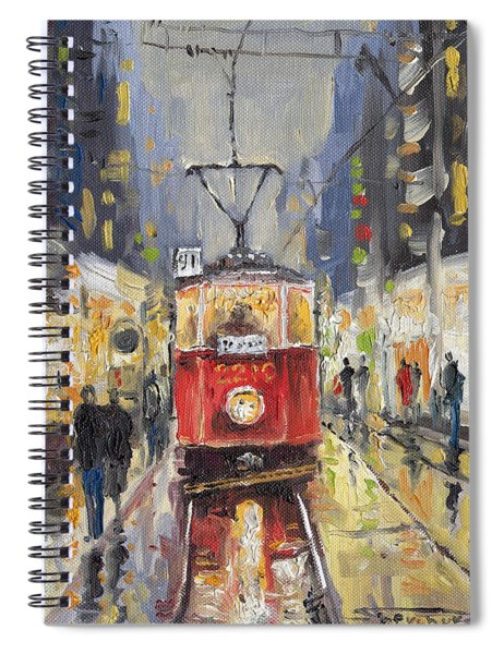 Prague Old Tram 08 Spiral Notebook