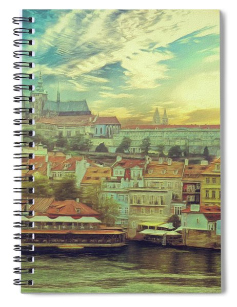 Prague Riverview Spiral Notebook