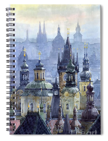 Prague Towers Spiral Notebook