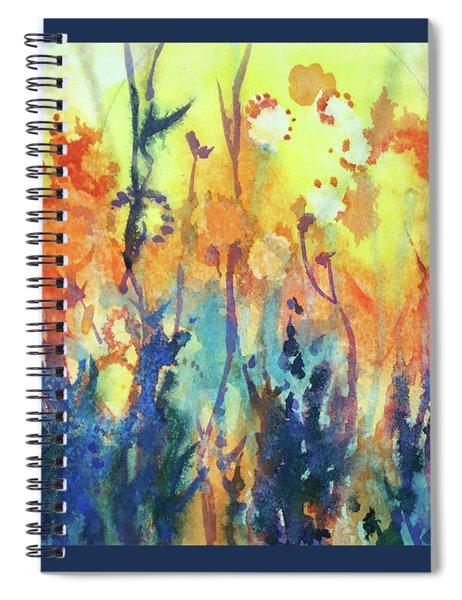 Prairie Sunlit Spiral Notebook