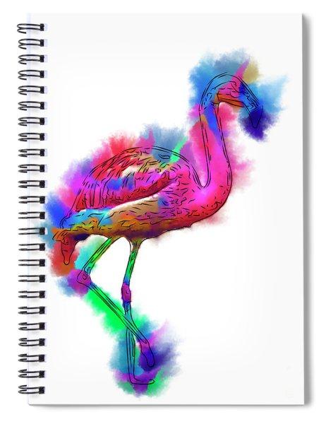 Prancing Flamingo Spiral Notebook