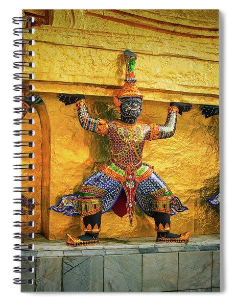 Prasatphradhepbidorn Golden Wall Spiral Notebook