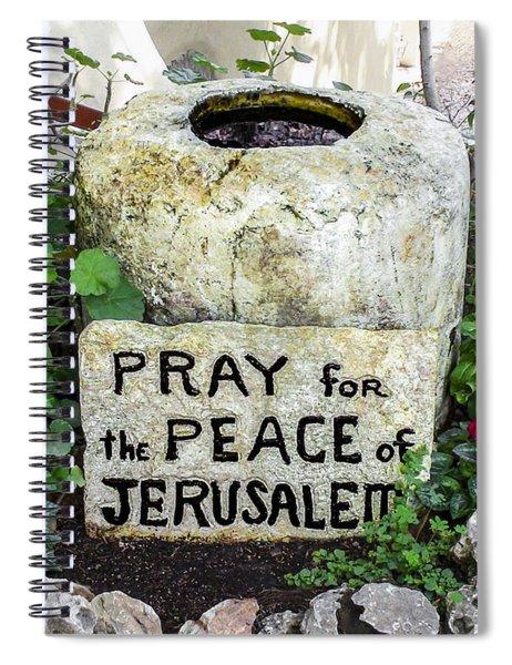 Pray For The Peace Of Jerusalem Spiral Notebook