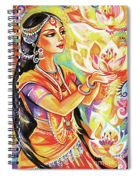 Pray Of The Lotus River Spiral Notebook