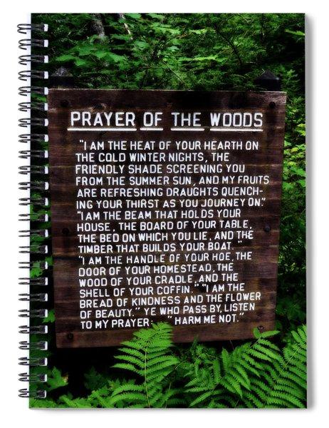 Prayer Of The Woods Spiral Notebook
