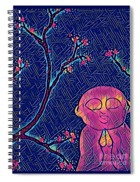 Praying Buddha Spiral Notebook