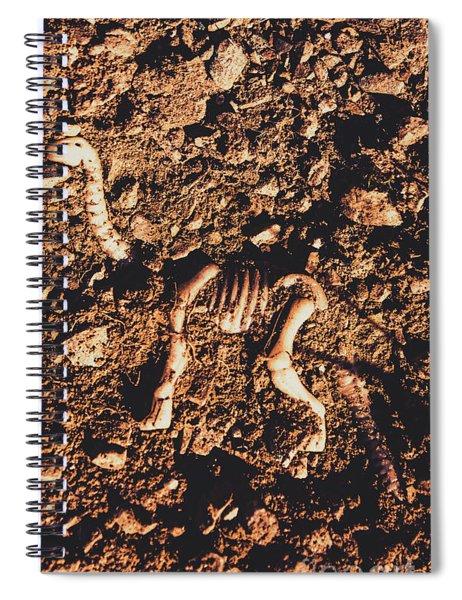 Prehistoric Diplodocus Bones Spiral Notebook