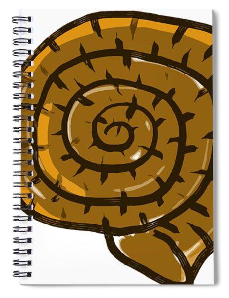 Prehistoric Shell Spiral Notebook
