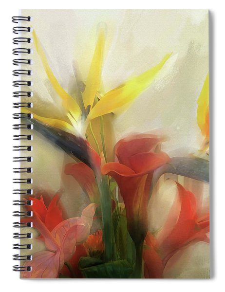 Spiral Notebook featuring the digital art Prelude To Autumn by Gina Harrison