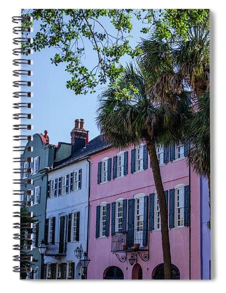 Presenting Rainbow Row  Spiral Notebook