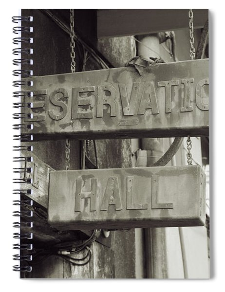 Preservation Hall, French Quarter, New Orleans, Louisiana Spiral Notebook