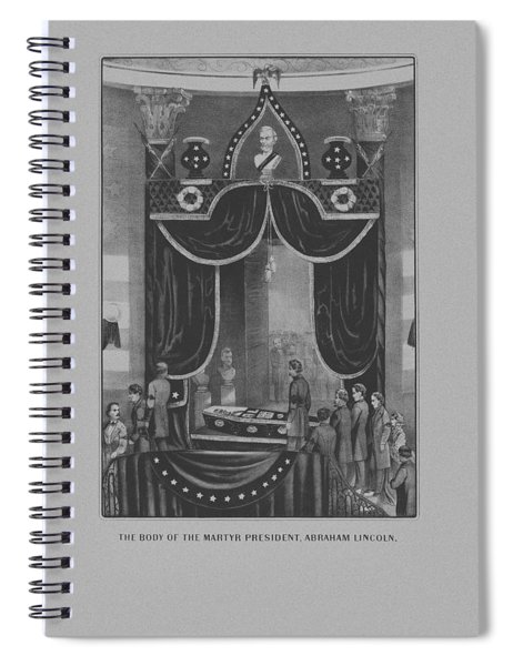 President Abraham Lincoln Lying In State Spiral Notebook