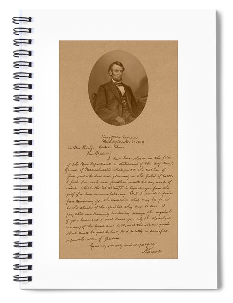 President Lincoln's Letter To Mrs. Bixby Spiral Notebook