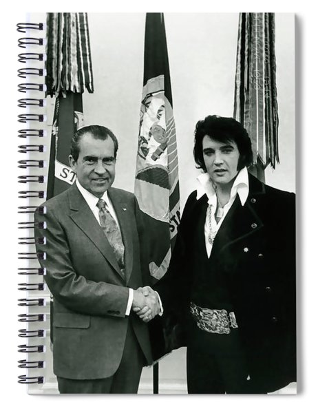 President Nixon And Elvis Presley In Oval Office Spiral Notebook