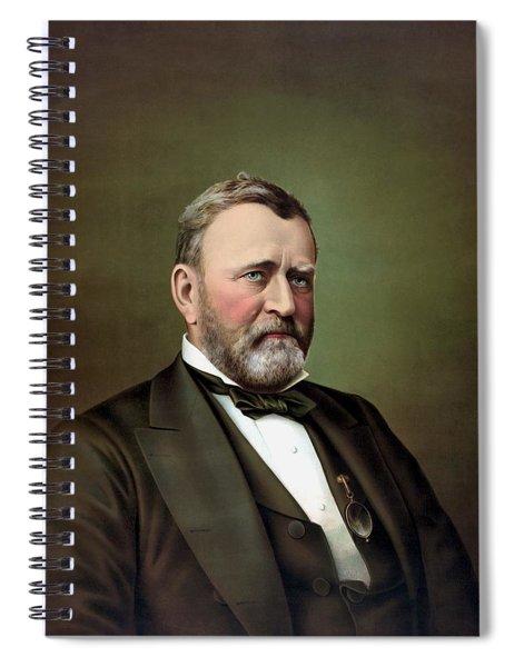 President Ulysses S Grant Portrait Spiral Notebook