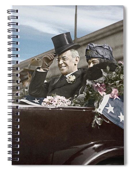 President Woodrow Wilson 1919 Color Spiral Notebook