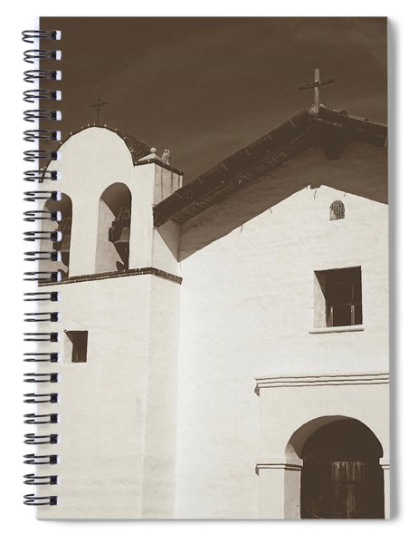 Presidio Chapel- Art By Linda Woods Spiral Notebook