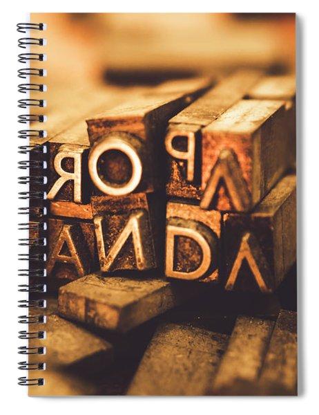 Press Of Propaganda Spiral Notebook