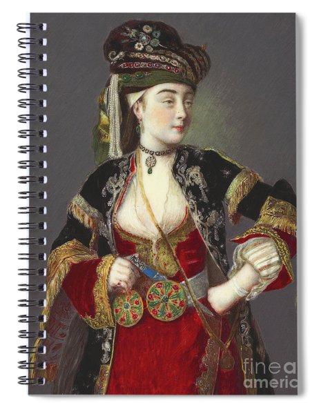Presumed Portrait Of Laura Tarsi In Turkish Dress Spiral Notebook