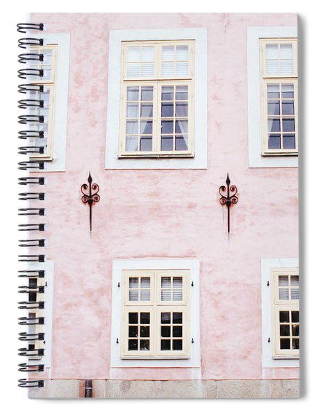 Pretty In Pink- Art By Linda Woods Spiral Notebook