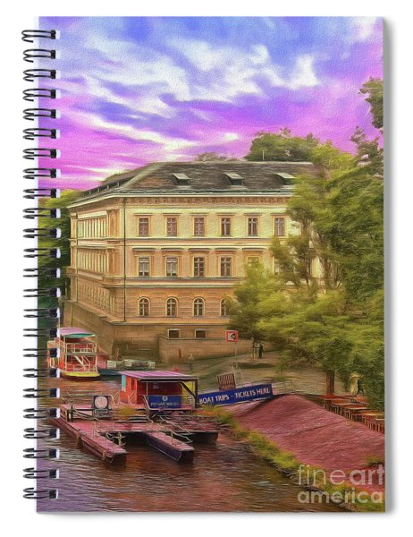 Pretty On The River - Prague Spiral Notebook