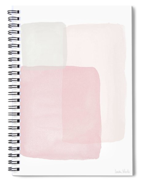 Pretty Pink Boxes 1- Art By Linda Woods Spiral Notebook