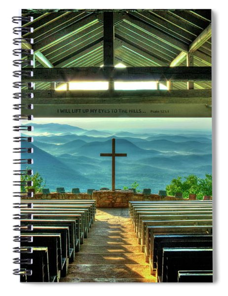 Pretty Place Chapel The Son Has Risen Blue Ridge Mountain Art Spiral Notebook