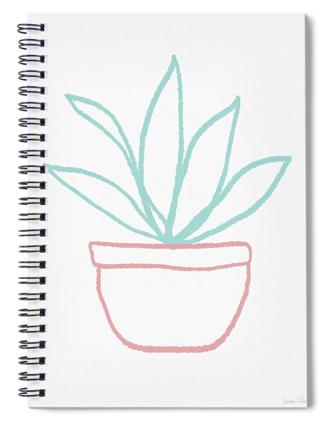 Pretty Potted Plant Illustration- Art By Linda Woods Spiral Notebook