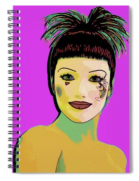 Pretty Woman Pop Art Spiral Notebook