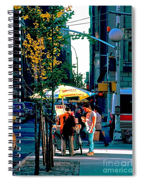 Hot Dog Stand Nyc Late Afternoon Ik Spiral Notebook