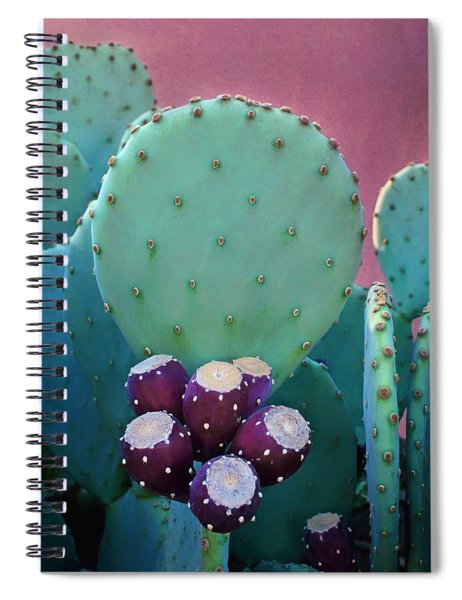 Prickly Pear - Cactus - Spineless Spiral Notebook
