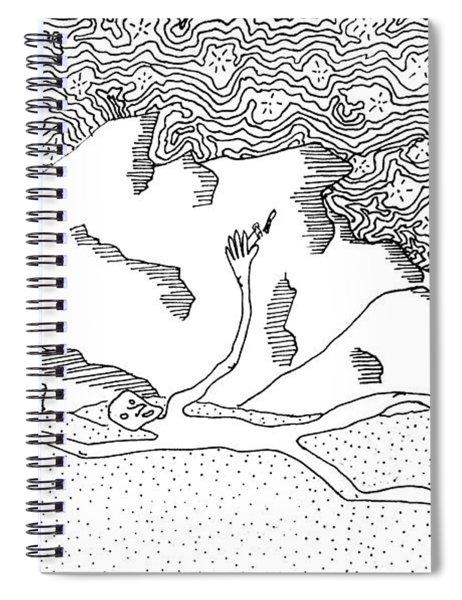 Pricklypear In The Desertscape Spiral Notebook