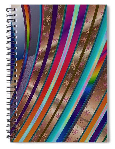 Spiral Notebook featuring the digital art Pride Waves 2101 by Brian Gryphon