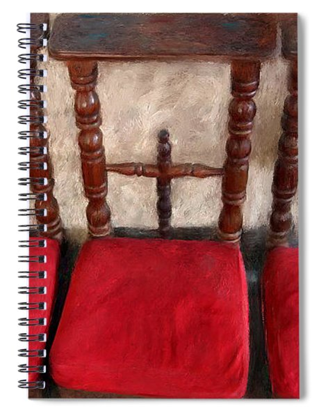 Prie Dieu - Prayer Kneeler Spiral Notebook