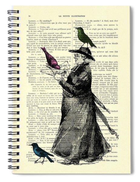 Priest And Birds Spiral Notebook