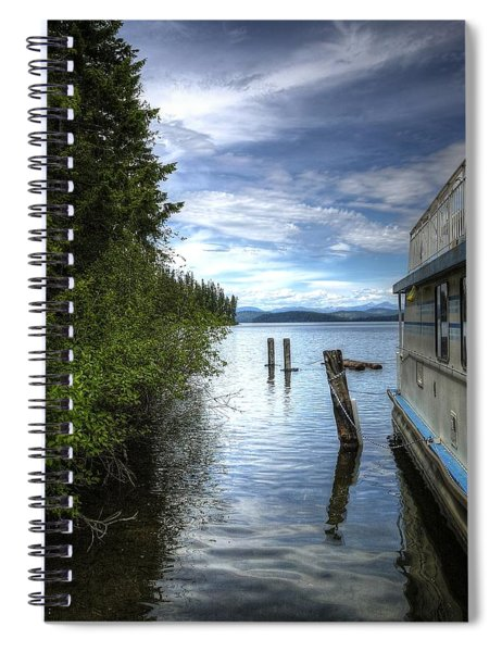 Priest Lake Houseboat 7001 Spiral Notebook