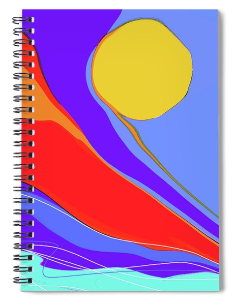 Spiral Notebook featuring the digital art Primarily by Gina Harrison