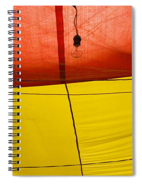 Spiral Notebook featuring the photograph Primary Light by Skip Hunt