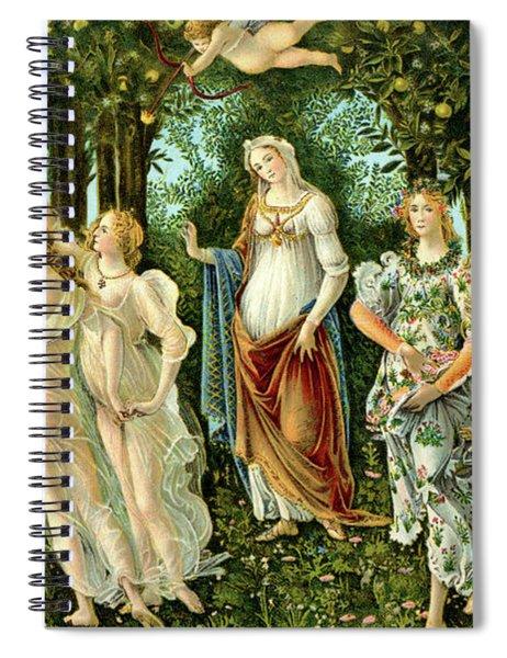 Primavera Or Spring Spiral Notebook