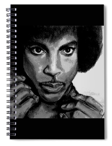Prince Art - Pencil Drawing From Photography - Ai P. Nilson Spiral Notebook