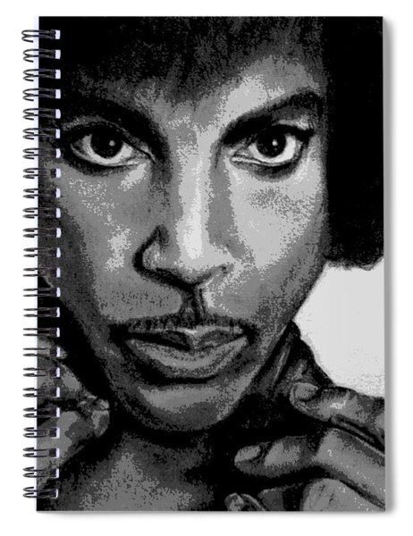 Prince Art - Pencil Drawing From Photography - Ai P. Nilson Spiral Notebook by Ai P Nilson