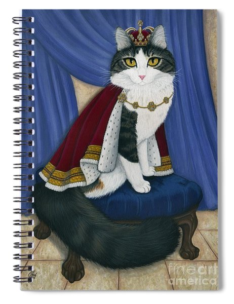Prince Anakin The Two Legged Cat - Regal Royal Cat Spiral Notebook