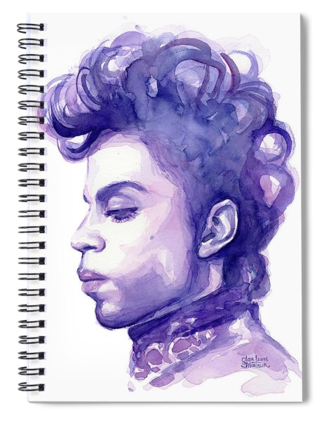 Prince Musician Watercolor Portrait Spiral Notebook