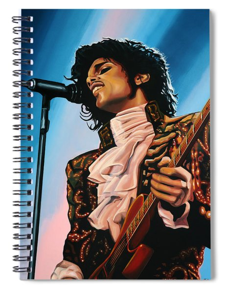Prince Painting Spiral Notebook