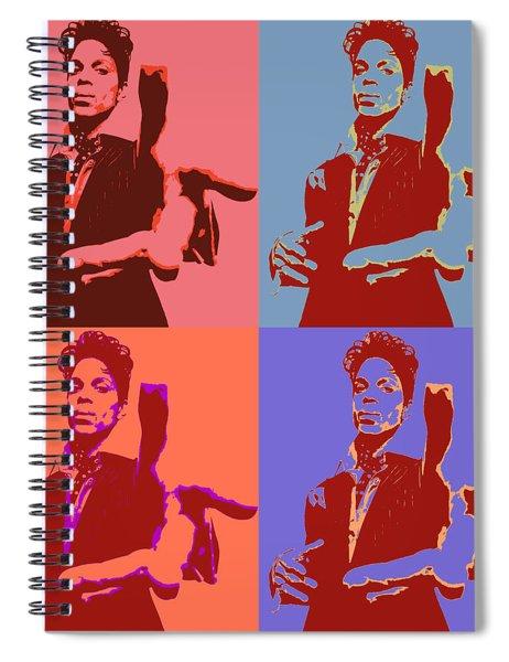 Prince Pop Art Panels Spiral Notebook