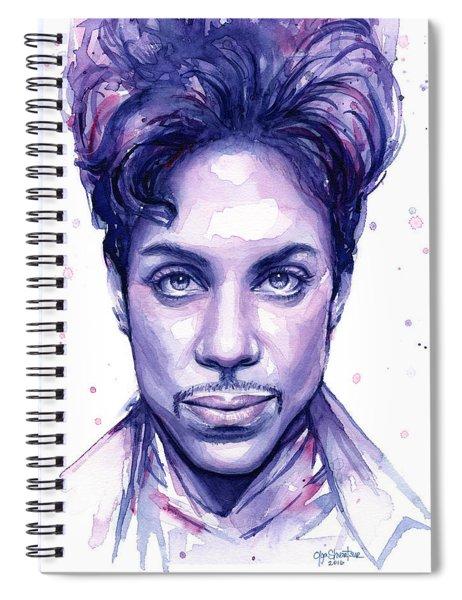 Prince Purple Watercolor Spiral Notebook