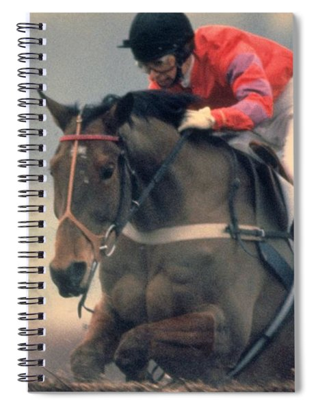 Spiral Notebook featuring the photograph Princess Anne Riding Cnoc Na Cuille At Kempten Park by Travel Pics