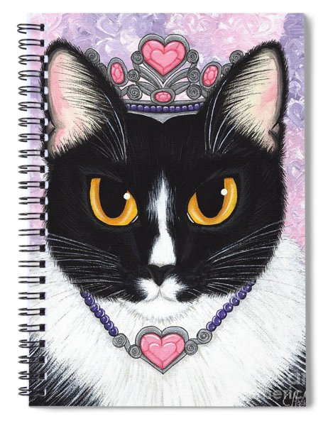 Princess Fiona -tuxedo Cat Spiral Notebook