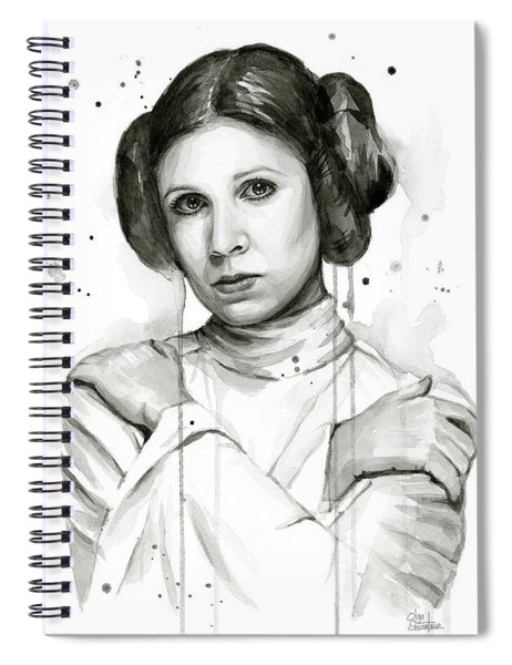 Princess Leia Portrait Carrie Fisher Art Spiral Notebook